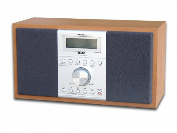 sailor sa 285dab dab digitales radio holz farbe dab radio. Black Bedroom Furniture Sets. Home Design Ideas