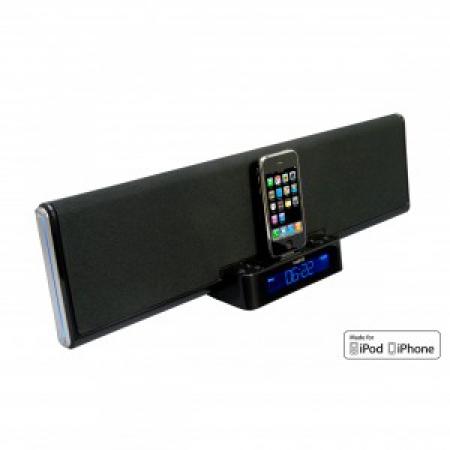 logic3 wis030k soundbar iphone ipod lautsprecher dock radio aux 663452303015 ebay. Black Bedroom Furniture Sets. Home Design Ideas