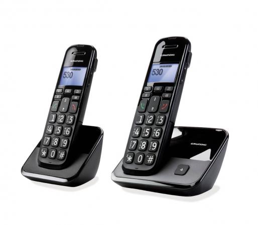 Grundig d530 duo telefono cordless con pulsanti di grandi - Cordless di design ...