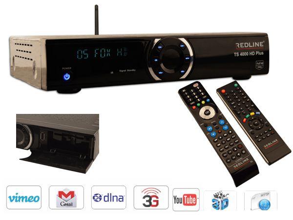 redline ts 4000 hd plus sat receiver iptv wifi youtube ca incl hdmi kabel ebay. Black Bedroom Furniture Sets. Home Design Ideas