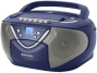 Roadstar RCR-4650USMPB Portable mit CD/MP3, USB und Kartenslot
