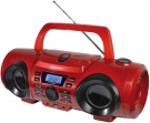 Roadstar CDR-265U Boombox mit CD/MP3/USB/AUX-IN rot