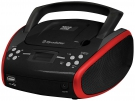 Roadstar CDR-4552U Boombox mit CD/MP3/USB/AUX-IN rot