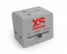 XSories Roamx Cube Universal Reise Adapter Silber