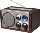 Roadstar HRA-1345WD Retro Design Radio mit USB & SD Slot, Vintage Line
