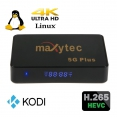 Maxytec 5G Plus IPTV Android/Linux Media Player, H.265 HEVC,WiFi,Kodi XBMC-Xtream-Stalker