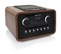 tangent ALIO CD/FM Radio in Wallnuss, Retro  Design, Dockingstation