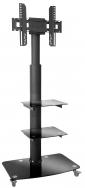 MyWall HP100 Standfuss fur LCD TV mit 2 Glasablagen