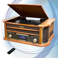 Roadstar HIF-1993D+BT Retro HiFi System mit DAB, Bluetooth und ENCODING Funktion