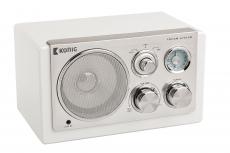 König Tischradio Retro FM/ AM 3 W Weiss HAV-TR1200