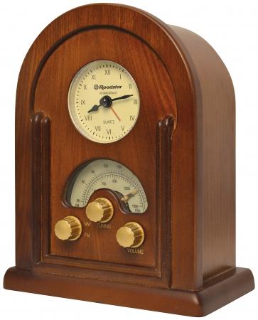 roadstar hra 1430 retro design radio mit uhr und alarm. Black Bedroom Furniture Sets. Home Design Ideas
