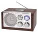 Roadstar HRA-1320US Wood Tisch Radio mit USB Kartenslot für MP3