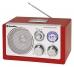 Roadstar HRA-1320US Rot Tisch Radio mit USB Kartenslot für MP3