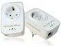Hercules Powerline ePlug Nano 200Mbit Pass Thru Duo (2er Set) mit Steckdose