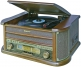 Roadstar HIF-1990BT Retro Style FM-Radio with Turntable, Cassette, CD Player and Direct Encoding