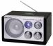 Roadstar HRA-1325US Schwarz Tisch Radio mit USB Kartenslot für MP3