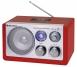 Roadstar HRA-1325US Rot Tisch Radio mit USB Kartenslot für MP3