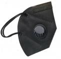 10 x FFP2 KN95 mit VENTIL Schwarz Atemmaske Maske Gesichtsmaske Filter 5 Lagen