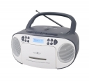 Reflexion RCR2260DAB Boombox mit DAB+ Radio, Kassette, CD, MP3, USB und AUX-IN grau