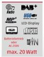 Reflexion RCR2260DAB Boombox mit DAB+ Radio, Kassette, CD, MP3, USB und AUX-IN pink