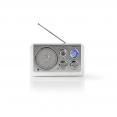 Tischradio AM/ FM   Batteriebetrieben / Netzstromversorgung   Analog   9 W   Weiß
