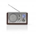 Tischradio AM/ FM | Batteriebetrieben / Netzstromversorgung | Analog | 9 W | Braun