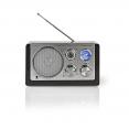 Tischradio AM/ FM | Batteriebetrieben / Netzstromversorgung | Analog | 9 W | Schwarz