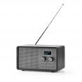 Tisch Radio DAB+ / FM | 1.3  | Batteriebetrieben | Digital | 4.5 W | Wecker | Schwarz