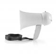 Megaphon MEPH100WT mit 100m Reichweite und bis zu 100 dB | Eingebautes Mikrofon | Eingebaute Sirene