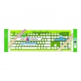 Kabellose PC USB Tastatur Rock Candy GRÜN / wasserdicht / QWERTZ / Windows