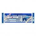 Kabellose PC USB Tastatur Rock Candy BLAU / wasserdicht / QWERTZ / Windows