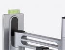 alphatronics PRO 1 FLEX Extrem leicht und stabil entwickelter Halter, mit schwenk- und neigbarem Kreuzgelenk